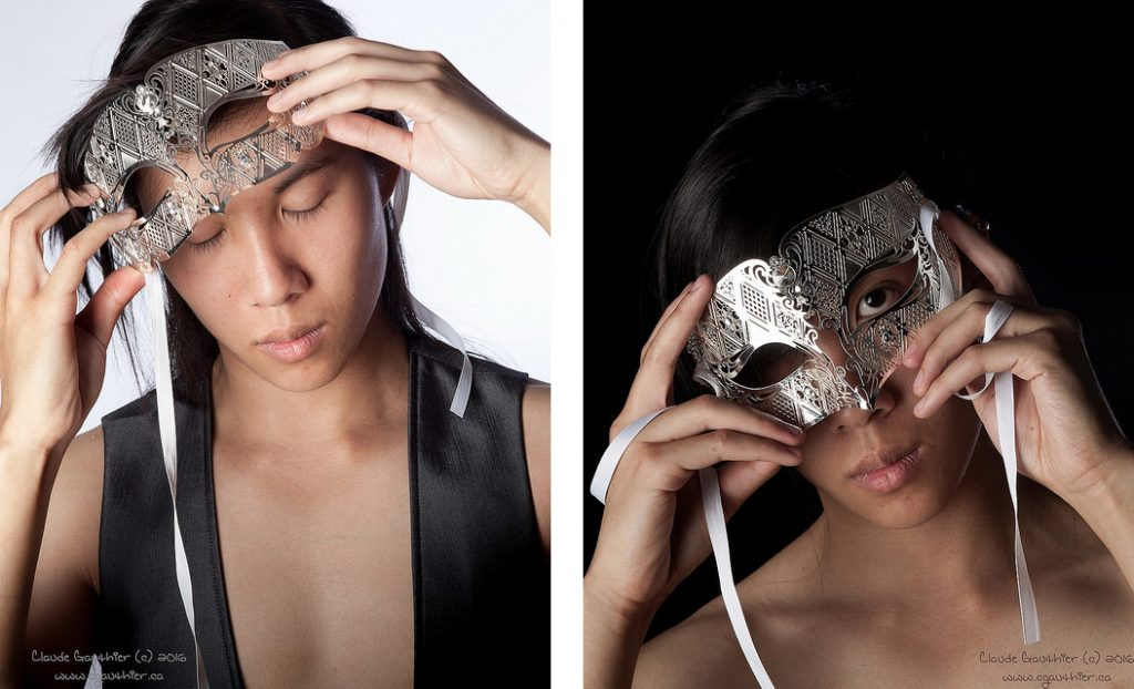 Model Curtis Leung with  mask