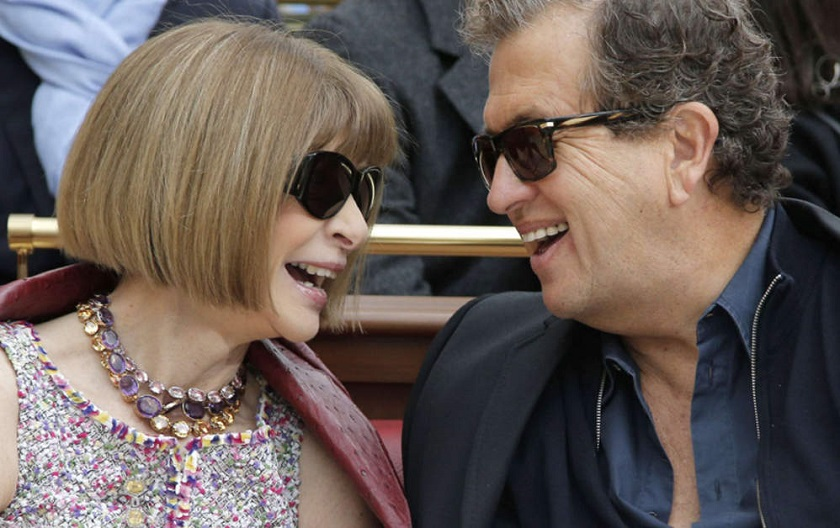 Anna Wintour, editor-in-chief of Vogue since 1988 with Mario Testino