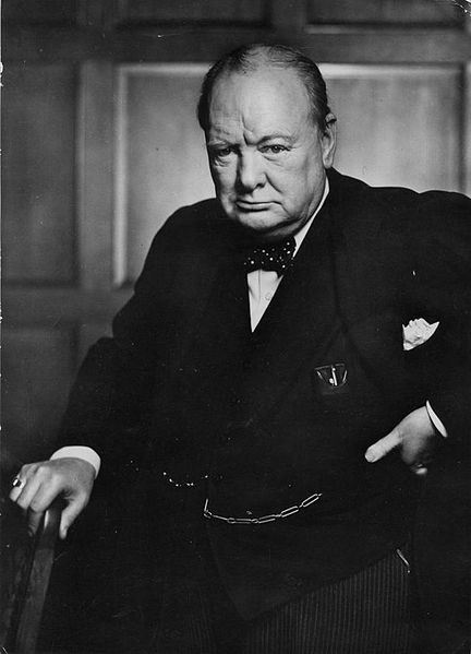 Iconic photo of William Churchill by Yousuf Karsh