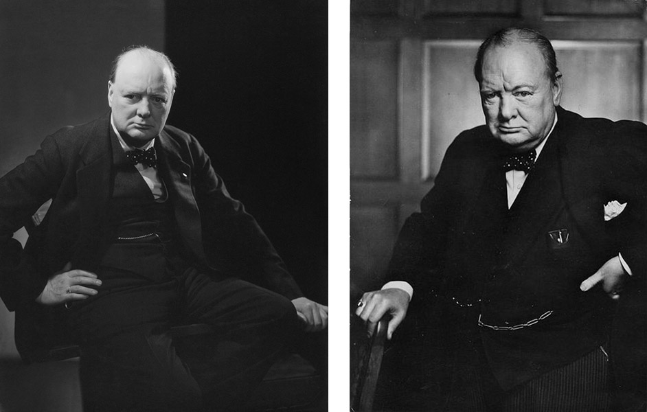 Churchill, Edward Steichen, Yousuf Karst portrait photo
