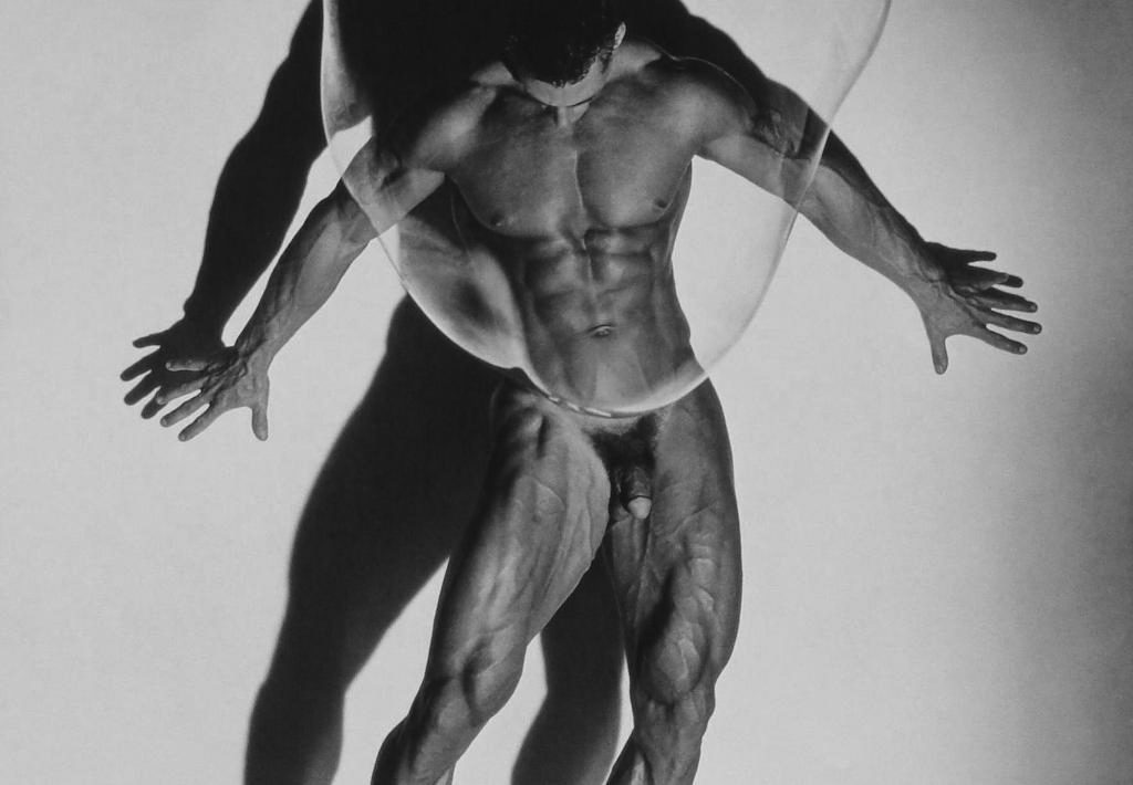 """Herb Ritts """"Male Nude in Bubble, 1987"""""""