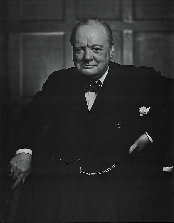 Photo of William Churchill by Yousuf Karsh