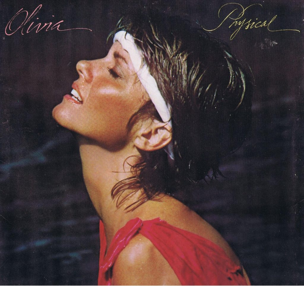 Photo de la couverture de l'album Physical, d'Olivia Newton John, qui a inspéré Ritts avec sa photo de Madonna