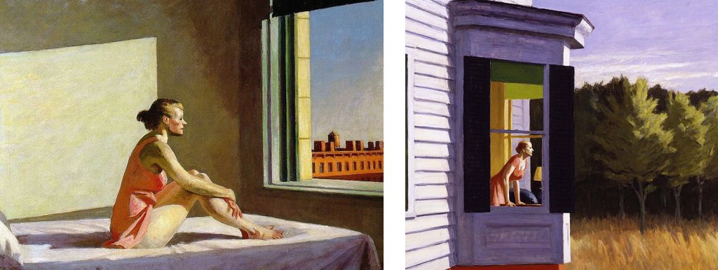 L'individu atomisé, Morning Sun (1952) et Cape Cod Morning (1950), par Edward Hopper